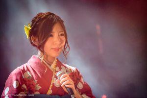 Wasamin durant le concert à Paris